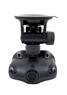 DVR-kamera i HD-kvalitet som festes på innsiden av vindusruten og starter automatisk når bilen startes. Kameraet blir et