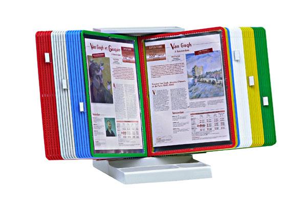 PUPITRES DE TABLE INFOFLEX AVEC 40 POCHETTES PIVOTANTES A4