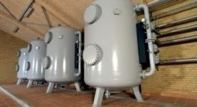 Pressure filter plants for removal of iron, manganese, ammonium, arsenic, etc. Pressure filter plants type TFB 35 with p