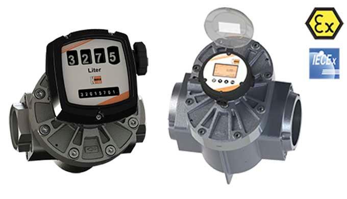 Messbereich: 0,5 - 36 l/h ... 150 - 2500 l/min Flüssigkeit Viskositätsbereich: bis zu 1000000 cP Anschluss: G ⅛ ... G 4
