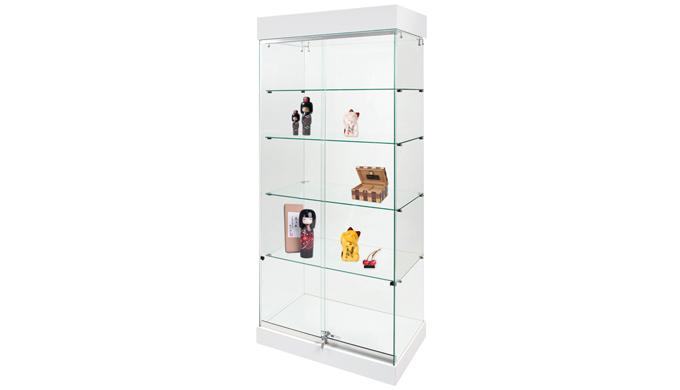 Transparente, pour la mise en valeur des objets exposés - Fabrication 100% en verre Sécurit trempé épaisseur 5 mm - Por