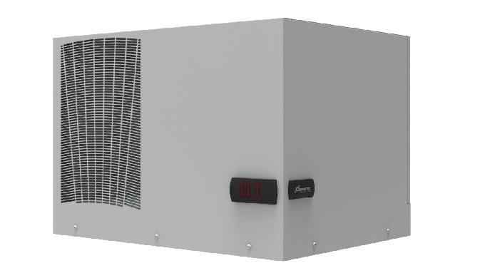 Condizionatore da tetto per armadi elettrici.Grazie alla nuova gestione del flusso d'aria ambiente, è possibile montare