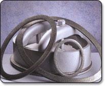 Těsnění průlezů kotlů, nádob a nádrží