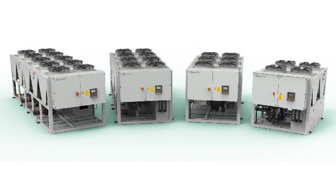 Refrigeratore di liquido per applicazioni industriali e di processo&#x3b; condensati ad ariasono disponibili nella versione