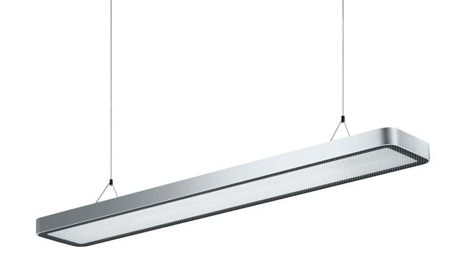 Illuminazione LED per gli uffici Scocca protetta da cover Tencologia antiabbagliamento con diffusore AMBIO a microprismi