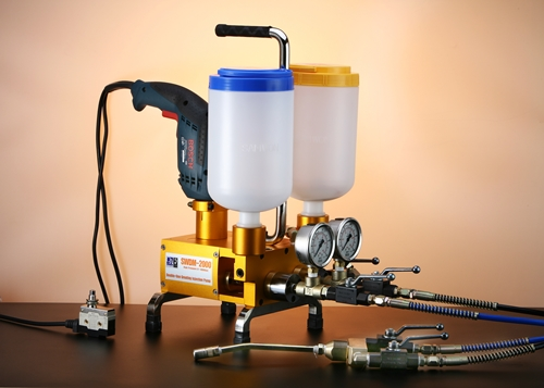 This machine is to prevent water leakage on concrete, any plastics or steel pipe. Owing to small and light weight, it is