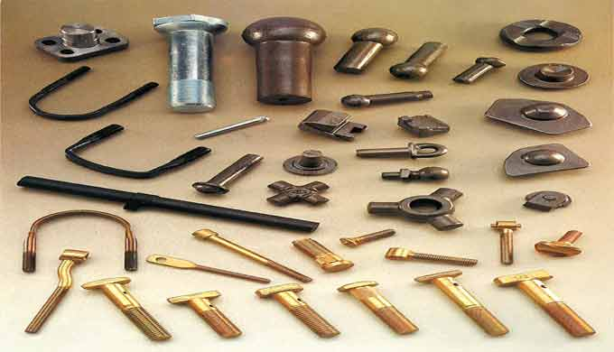 Knuckles, clamps, bolts and nuts for the automotive industry.