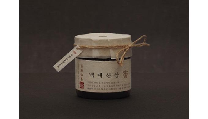 Baekjae Sansam - Organic wild ginseng paste  ,  Baekjae Sansam - Organic wild ginseng extract tea | healthdrinks