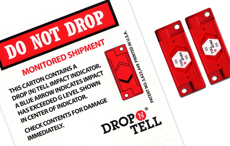 Drop N Tell labels are designed to record bad handling at the point of delivery. They record shocks and impacts equal to