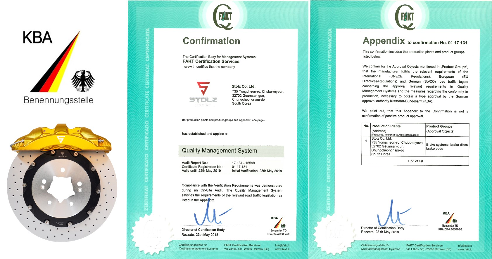 Germany KBA Quality Management system Certification