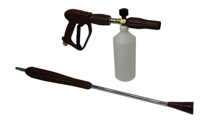 Le coupleur KW (PUSH PULL) du pistolet permet de passer du mode mousse au mode rinçage en 2 clics. La mousse obtenue est