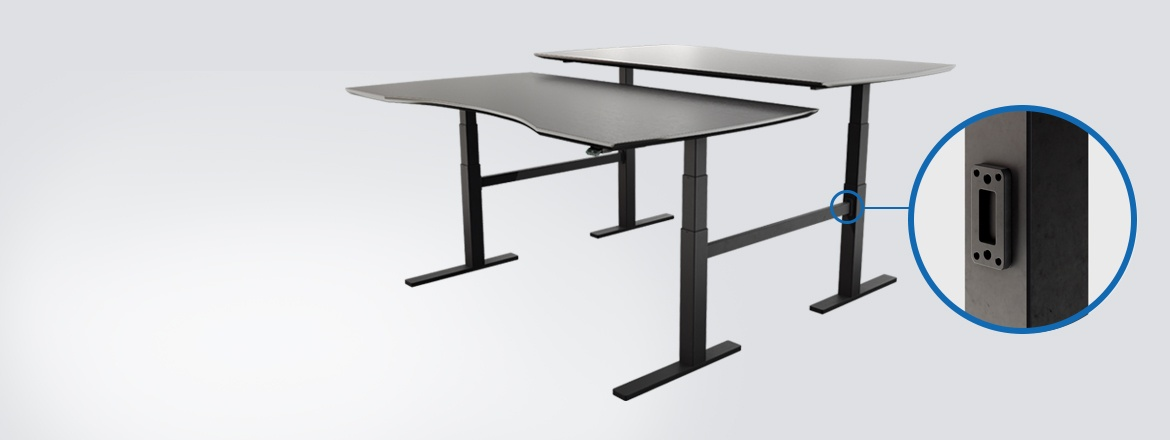 Explore desk design flexibility with new bench bracket option