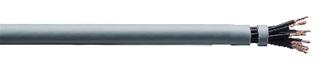 Halogenfri flexibel kabel med nummermärkta ledare och liten böjradie, används som styr-, signal- och anslutnings-kabel i