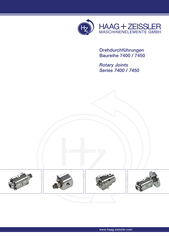 Neues Prospekt Drehdurchführungen Baureihe 7400 / 7450 für Hochdruck