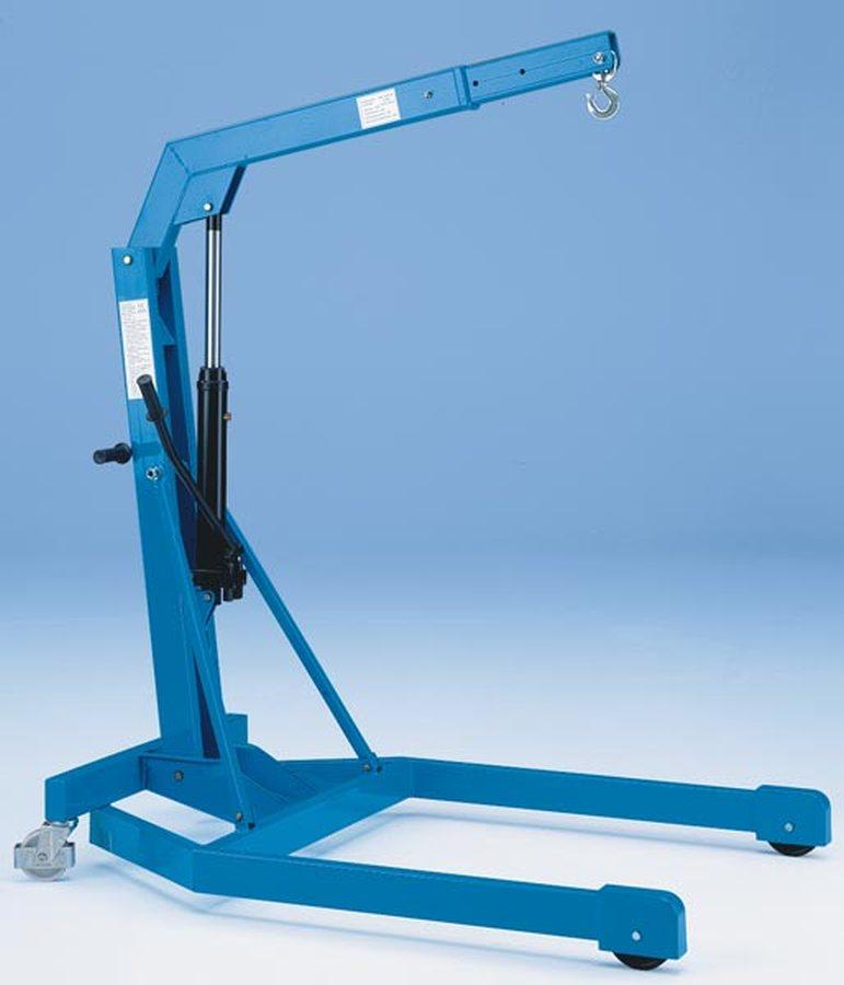 Tragfähigkeit 1000 kg, Fahrgestell parallelLackiert, lichtblau RAL 5012. Polyamid-Räder, kugelgelagert. Rad-Ø 125 / 160