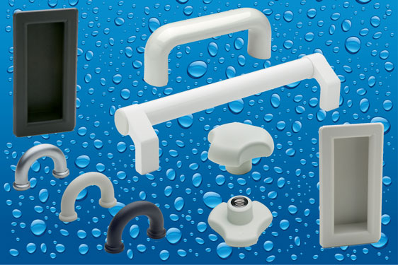 CLEAN line clamping knobs and pull handles from Elesa