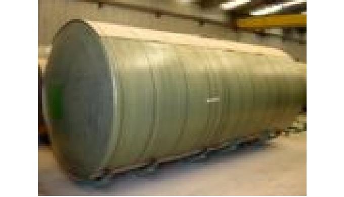 Atmospherical storage tanks for fuel liquids Underground double skin steel-FRP tank