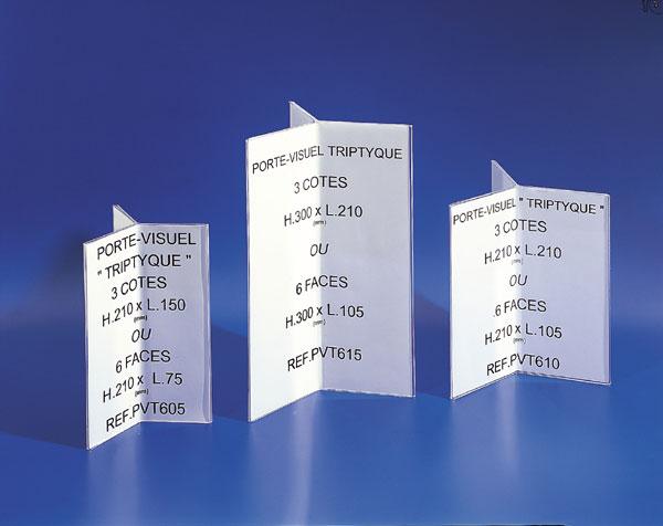 Mise en valeur optimale de vos documents Utilisation sur le comptoir, dans une vitrine ou sur la table de restaurant Int