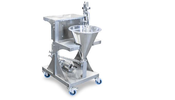 Conçu par CDA, le chariot à piston est un système de pompage pour produits à forte densité. Il est très précis dans le d