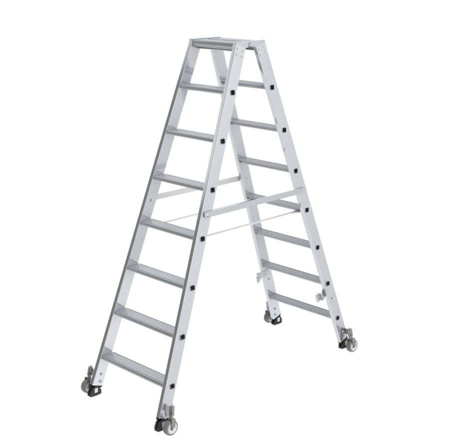 Stufen-Stehleiter, beidseitig