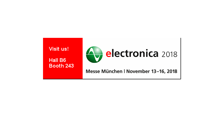 ELECTRONICA 2018 in Munich from 13.11. - 16.11.18