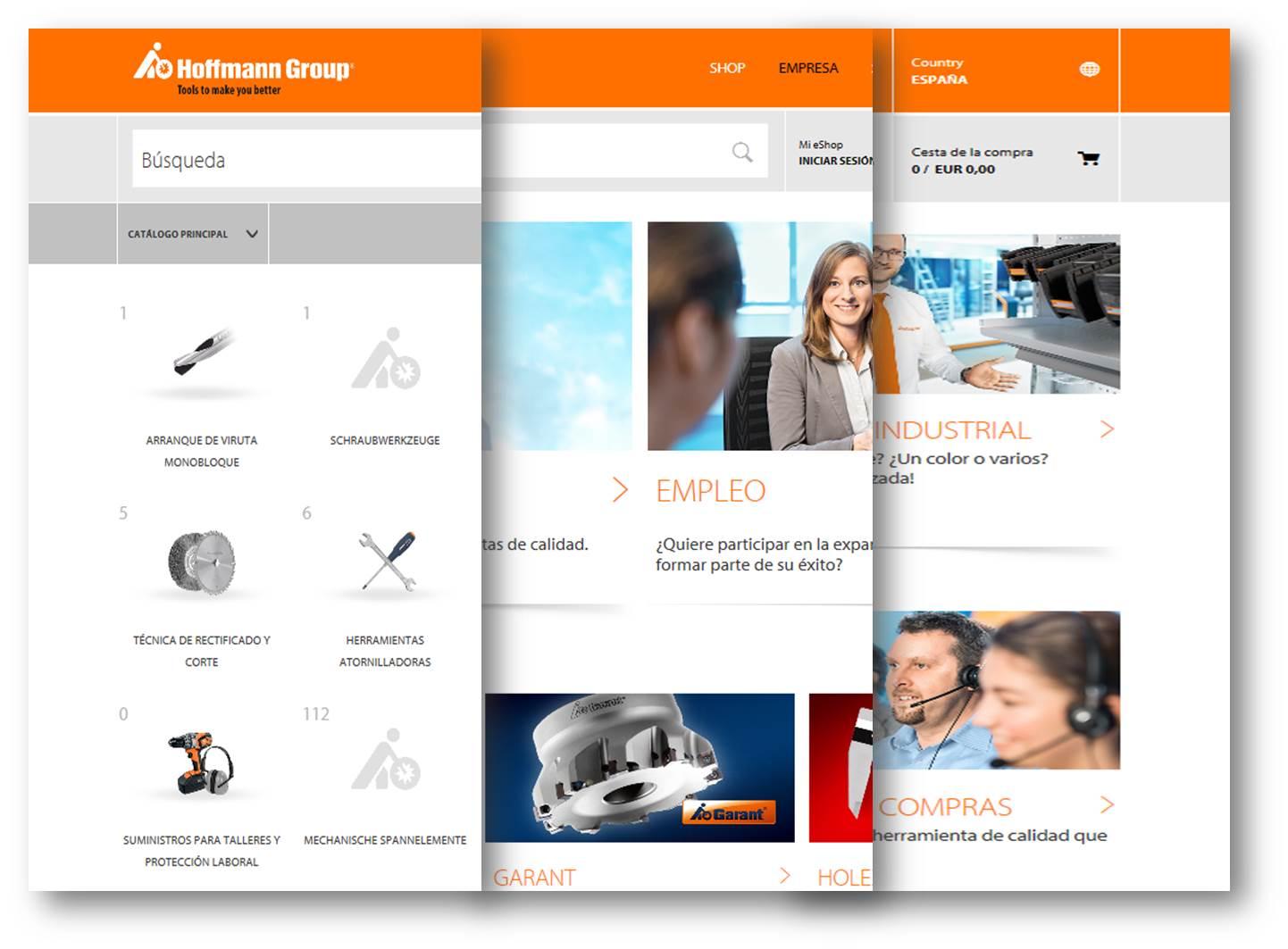 El eShop de Hoffmann Group está más cerca del cliente