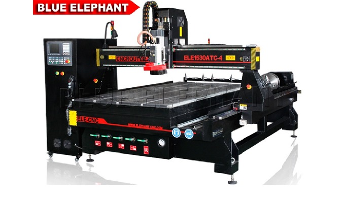 ELECNC-1530 ATC 4 Axis CNC Machine for 3D Wood