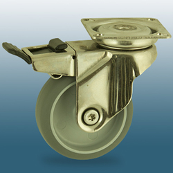 Castors, stainless steel