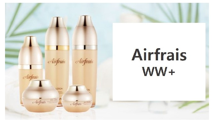 Twin functional cosmetic, whitening and wrinkle-free. Airfrais is French which means natural energy for your skin whiten
