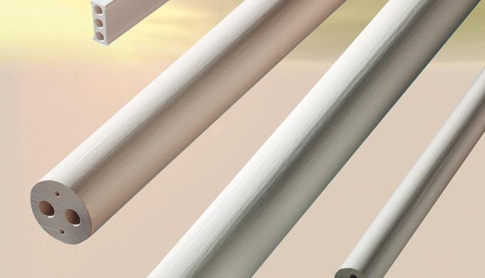 Superpyrostat -  wird in weich gebranntem Zustand verwendet. Es ist ein poröses Hochfrequenzsteatit, das vor allem dur