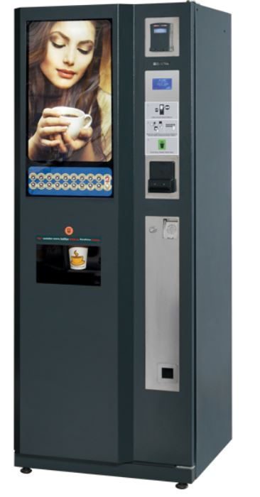 The Maxi-Cafe® is a high capacity instant coffee vending machine, offering 18 hot drinks by Direct Selection for large o