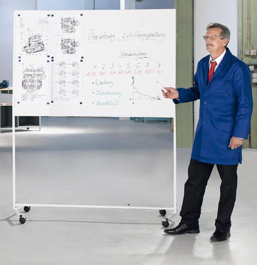 magnethaftendDie Lösung, wenn keine Wand zur Anbringung einer Tafel vorhanden ist oder kurzfristig eine Tafel benötigt w