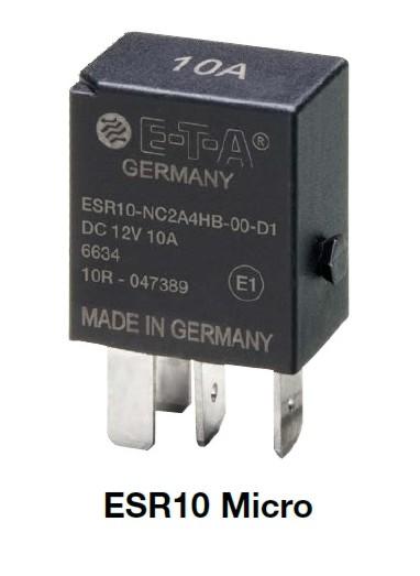 Solid State relé ESR10 Micro 10A 12V-novinka pro automobilový průmysl od E-T-A