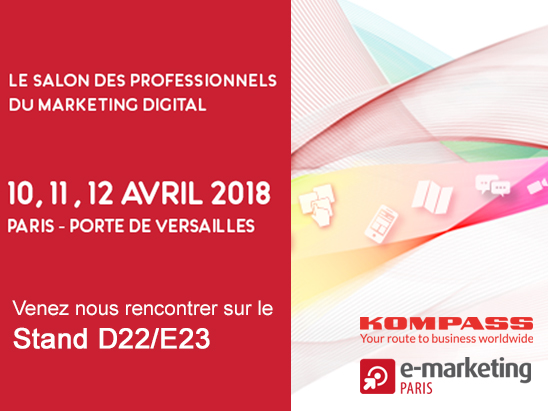 RDV sur le stand D22/E23 au salon emarketing du 10 au 12 avril 2018