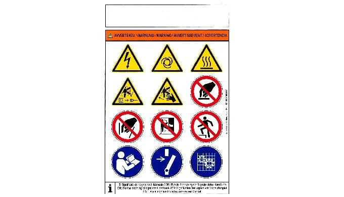 Stampa di segnali di pericolo