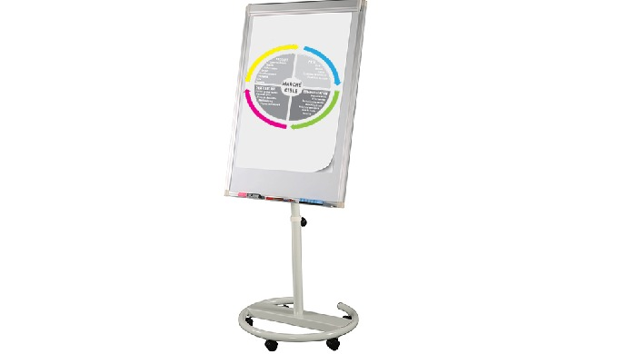 CHEVALETS PAPERBOARD MOBILE PIED CIRCULAIRE