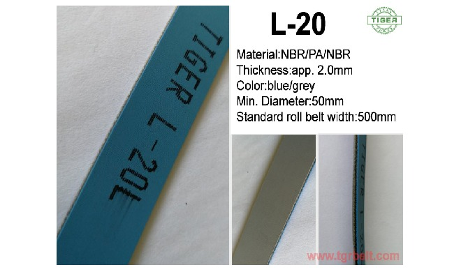 Tiger popular folder gluer belts LL-30,LL-40 are flexible,  reliable, high strength. Other related products: Machine tap
