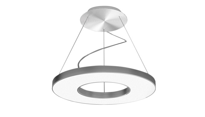 Suspended luminaire vivaa ring by herbert waldmann gmbh for Suspente luminaire