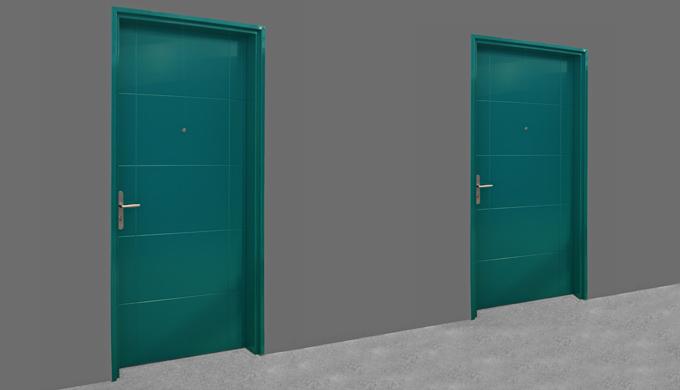 Portes palières Isoblindé 39 : Porte Isoblindé 39 EI30 et avec affaiblissement acoustique Rw 40 (-1&#x3b;-3) Porte de 40 mm d