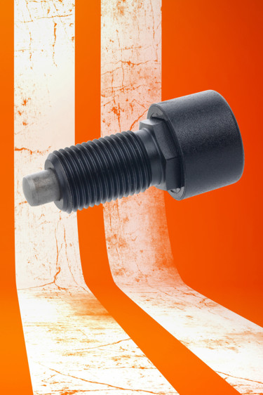 The metal GN514 series of push-push indexing plungers from Elesa provides the option of hand or foot operation where pus