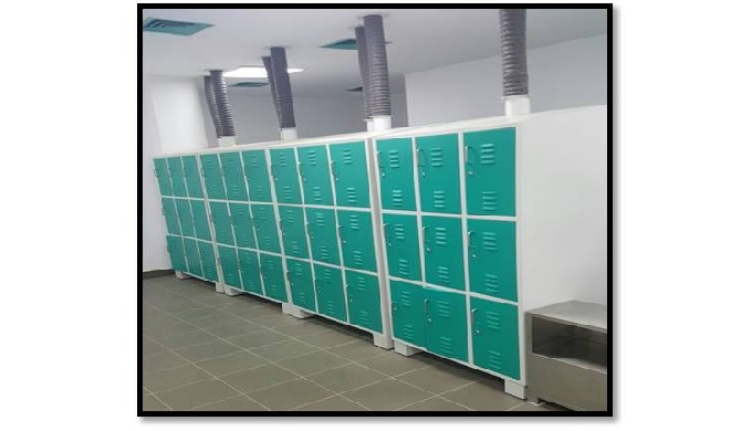 powder coated lockers