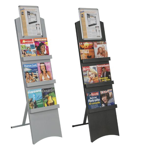 Pour tout type de brochures, catalogues, prospectus Utilisation pour l'aménagement de zones d'accueil et d'exposition. P