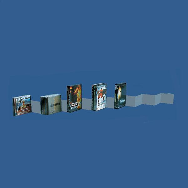 Utilisation en médiathèque ou magasin pour la présentation de CD, DVD et vidéos..Idéal à placer sur des tablettes de Mus