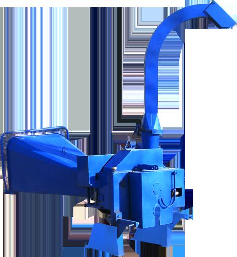 Fărămiţătorul FZT Este destinat pentru fărâmiţarea crengilor cu ramuri (diametrul maxim 80 mm), corzilor de viţă de vi