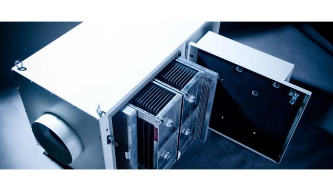 Die elektrostatischen Luftreiniger ELBARON® verfügen über eine unvergleichbar grosse Abscheidekapazität für Öl- und Emul