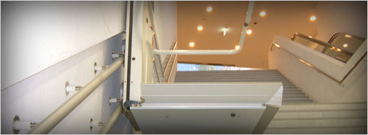 This lift is individually manufactured with regards to the stairs width and lenght. It is designed so it will fit into a