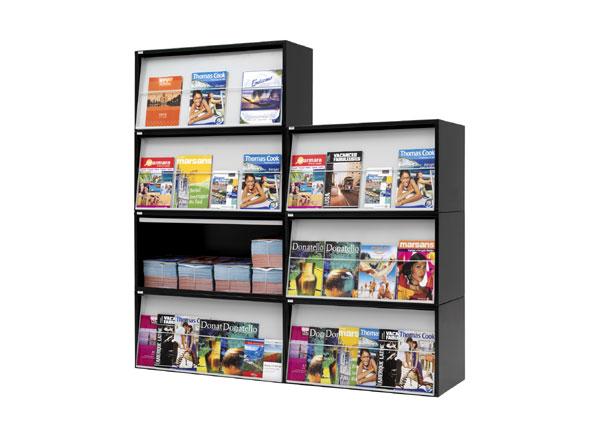 Stockage et présentation en un seul présentoir La solution pratique pour stocker et présenter simultanément dans le même