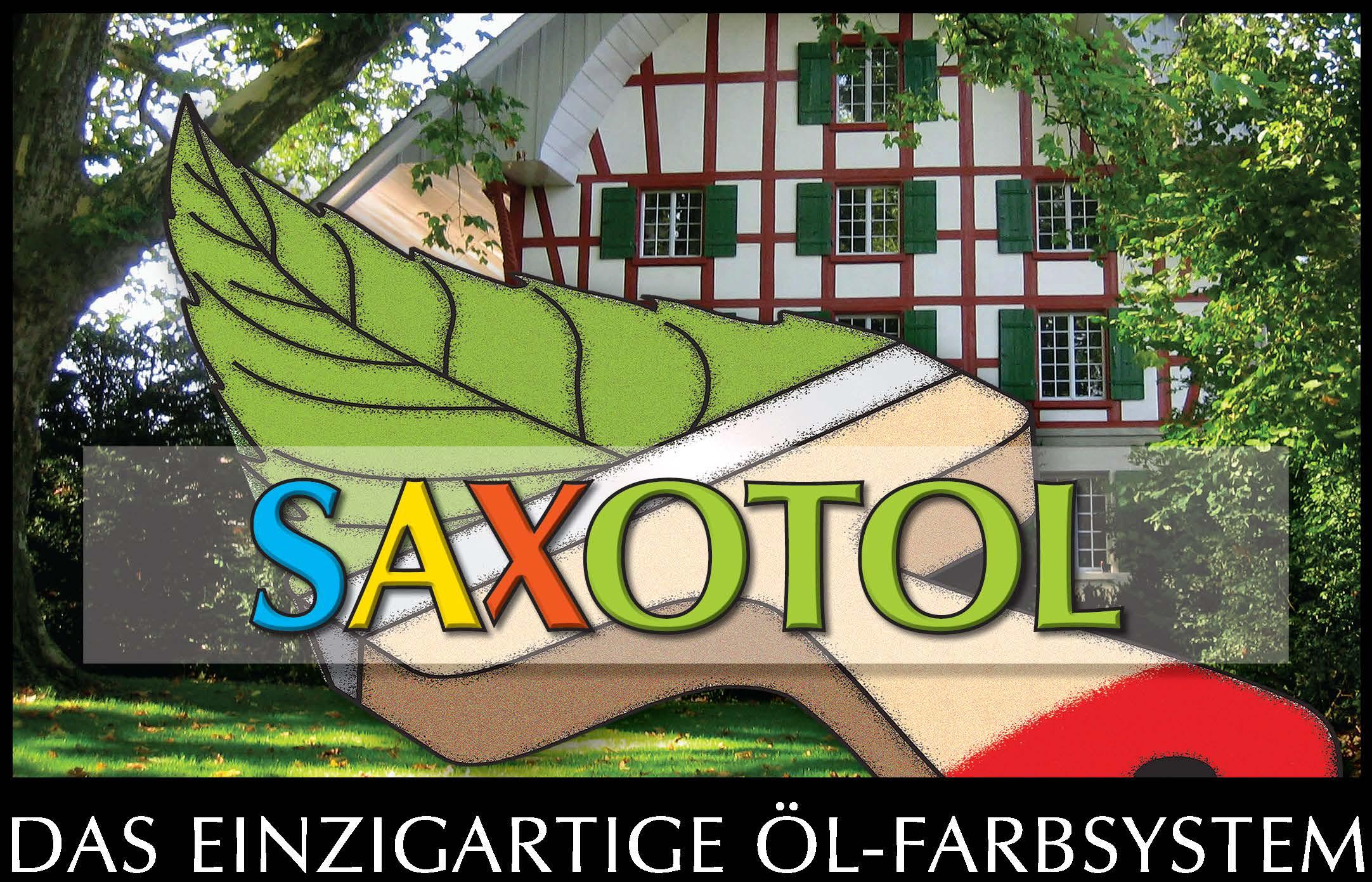 Saxotol  Öl-Farbe für Holzanstriche im Aussen- und Innenbereich