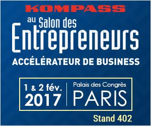 Kompass est présent sur le salon des entrepreneurs à Paris