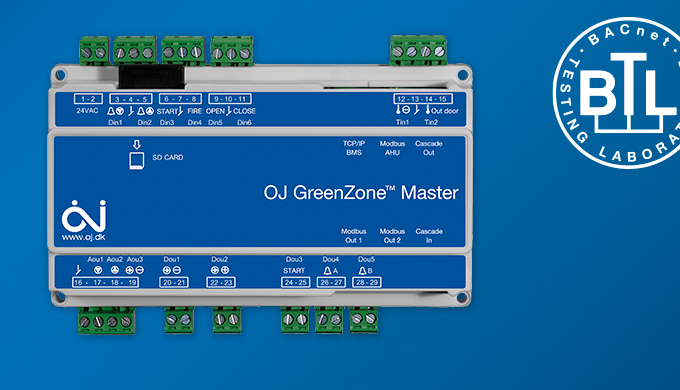 OJ Electronics - OJ GreenZone™ gets BTL certification